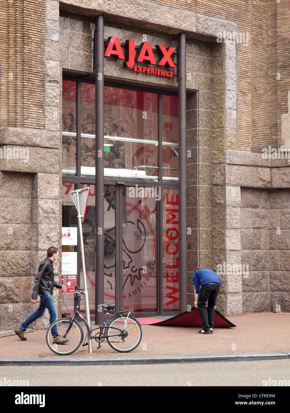 Ajax Experience entrance, Amsterdam the Netherlands - Stock Image