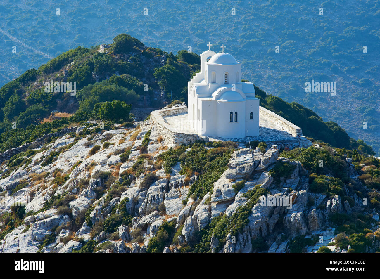 Church, Naxos, Cyclades Islands, Greek Islands, Greece, Europe - Stock Image