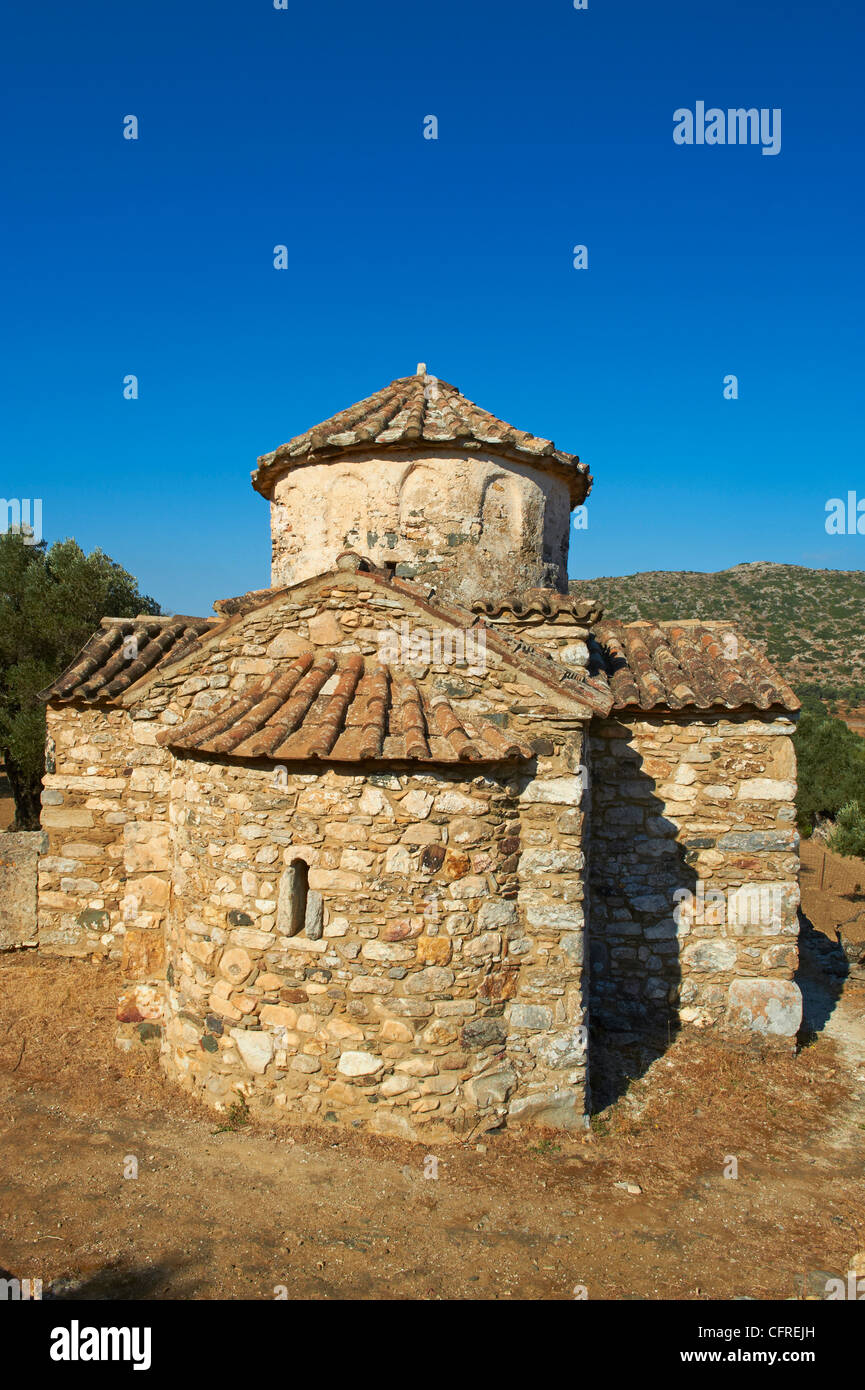Agio Apostoli, Byzantine church, Naxos, Cyclades Islands, Greek Islands, Greece, Europe - Stock Image