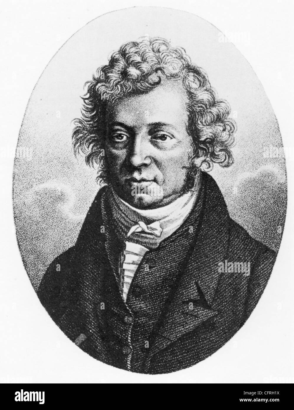 ANDRE-MARIE AMPERE (1775-1836) French mathematician and physicist - Stock Image