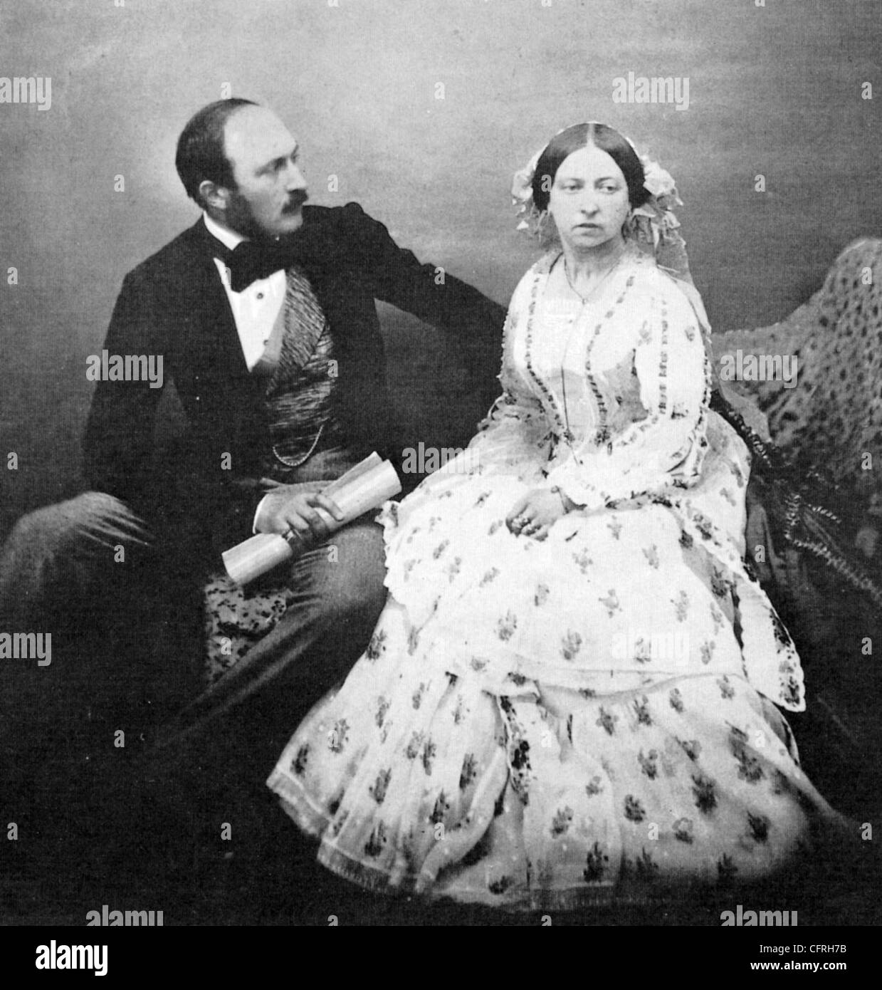 QUEEN VICTORIA and Prince Albert in 1854 when both were 35 years old. - Stock Image