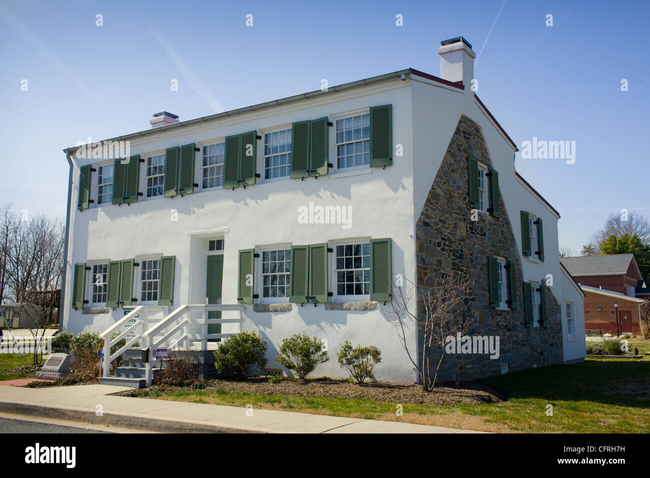 Lighthouse Keeper's home, Havre de Grace, Maryland, Chesapeake Bay - Stock Image