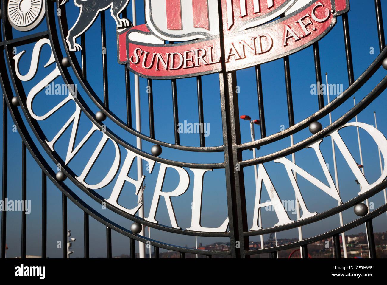 Gate at The Stadium of Light Sunderland England - Stock Image