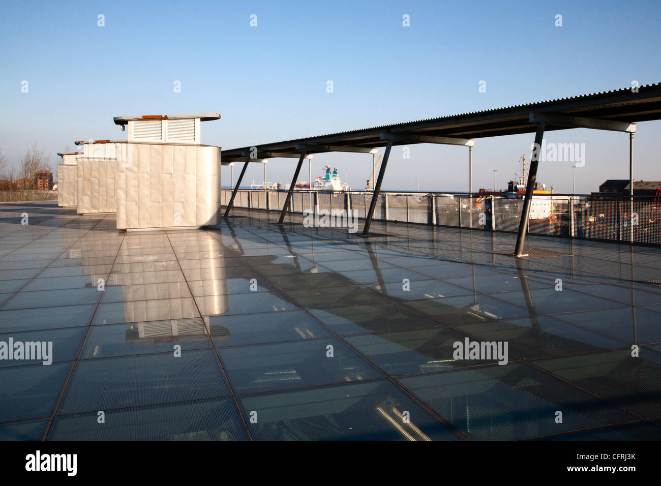 Glass Roof at University of Sunderland National Glass Centre Sunderland England - Stock Image