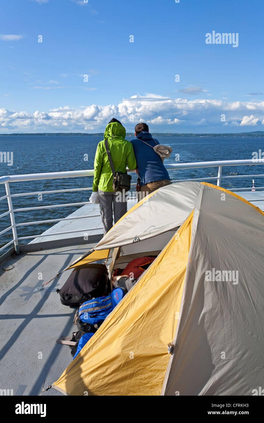 Usa Alaska Ferry Deck Passengers Stock Photos & Usa Alaska