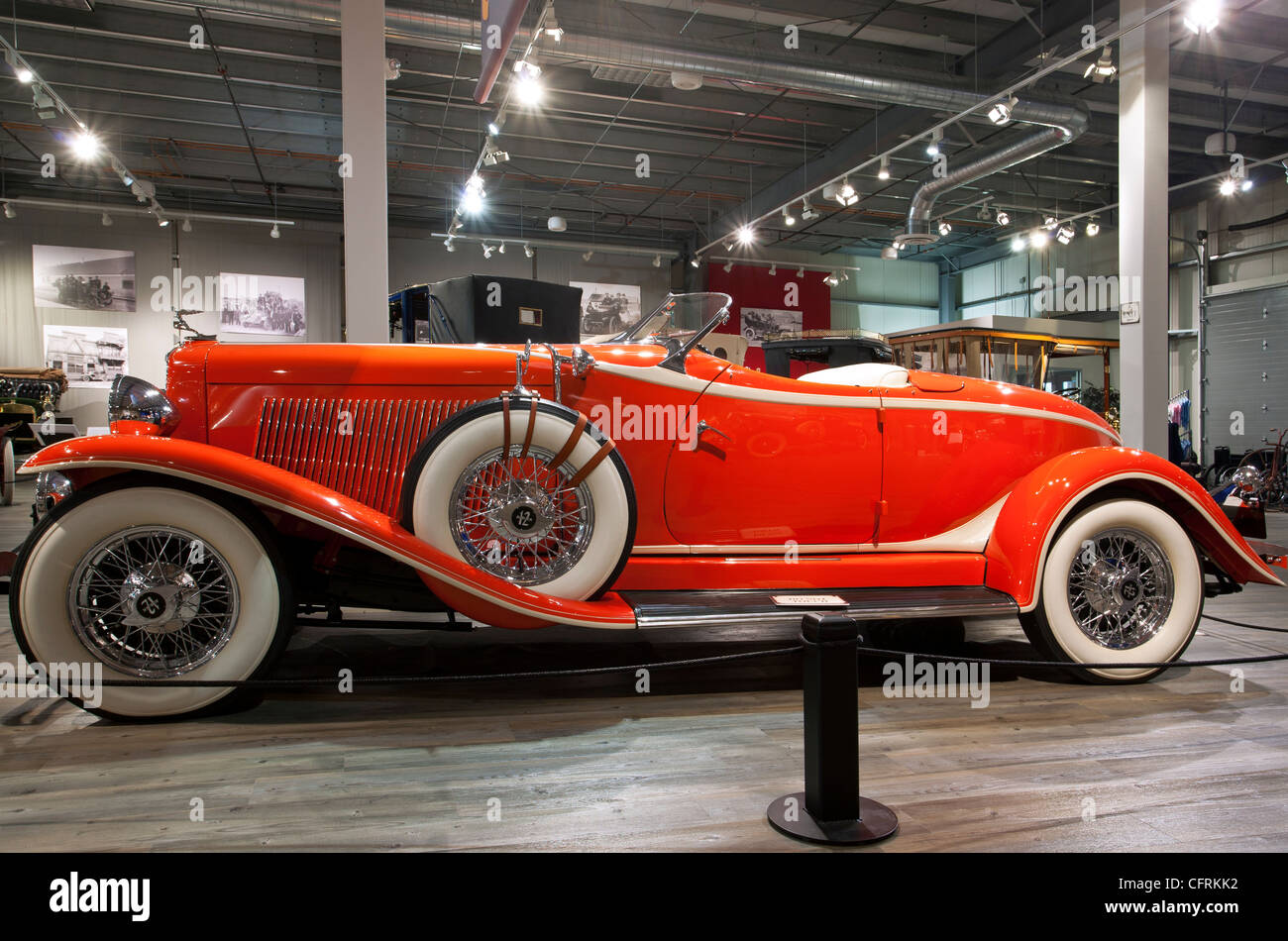 1933 Auburn model 12-161A custom boattail speedster. Fountainhead Antique Auto Museum. Fairbanks. Alaska. USA - Stock Image
