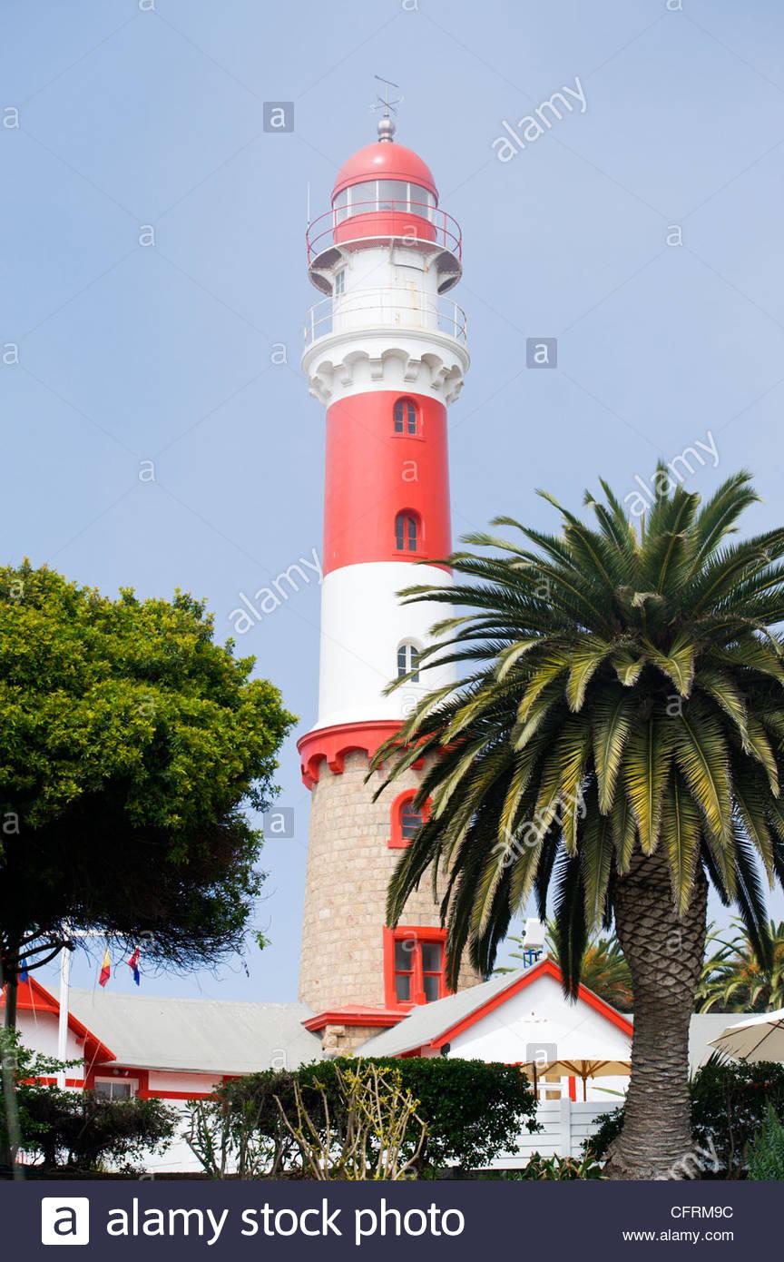 Lighthouse, Swakopmund, Namibia - Stock Image