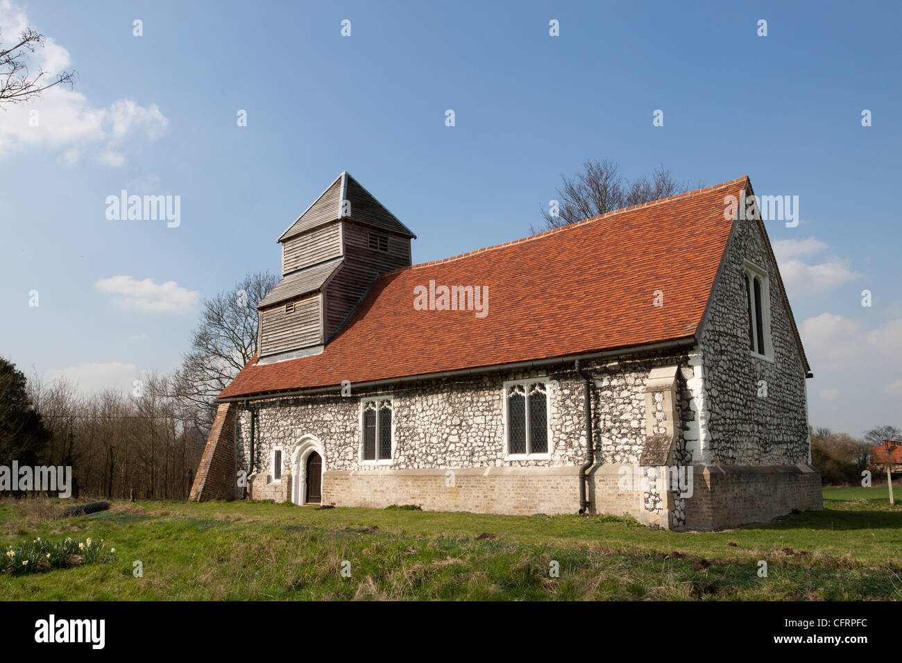 St Mary Magdalene church, a grade 1 listed building, Boveney, Buckinghamshire, England, UK - Stock Image