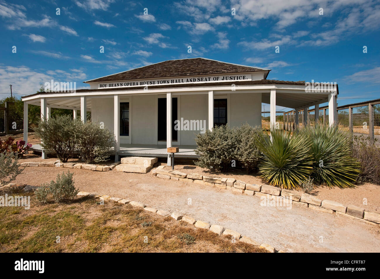 USA, Texas, Langtry, Judge Roy Bean Residence, Opera House, Town Hall and Seat Of Justice,. PLEASE CALL FOR SUPER Stock Photo