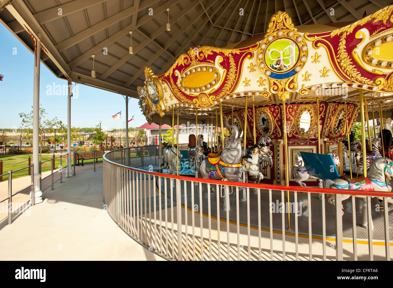 North America Usa Texas San Antonio Carousel Morgan S