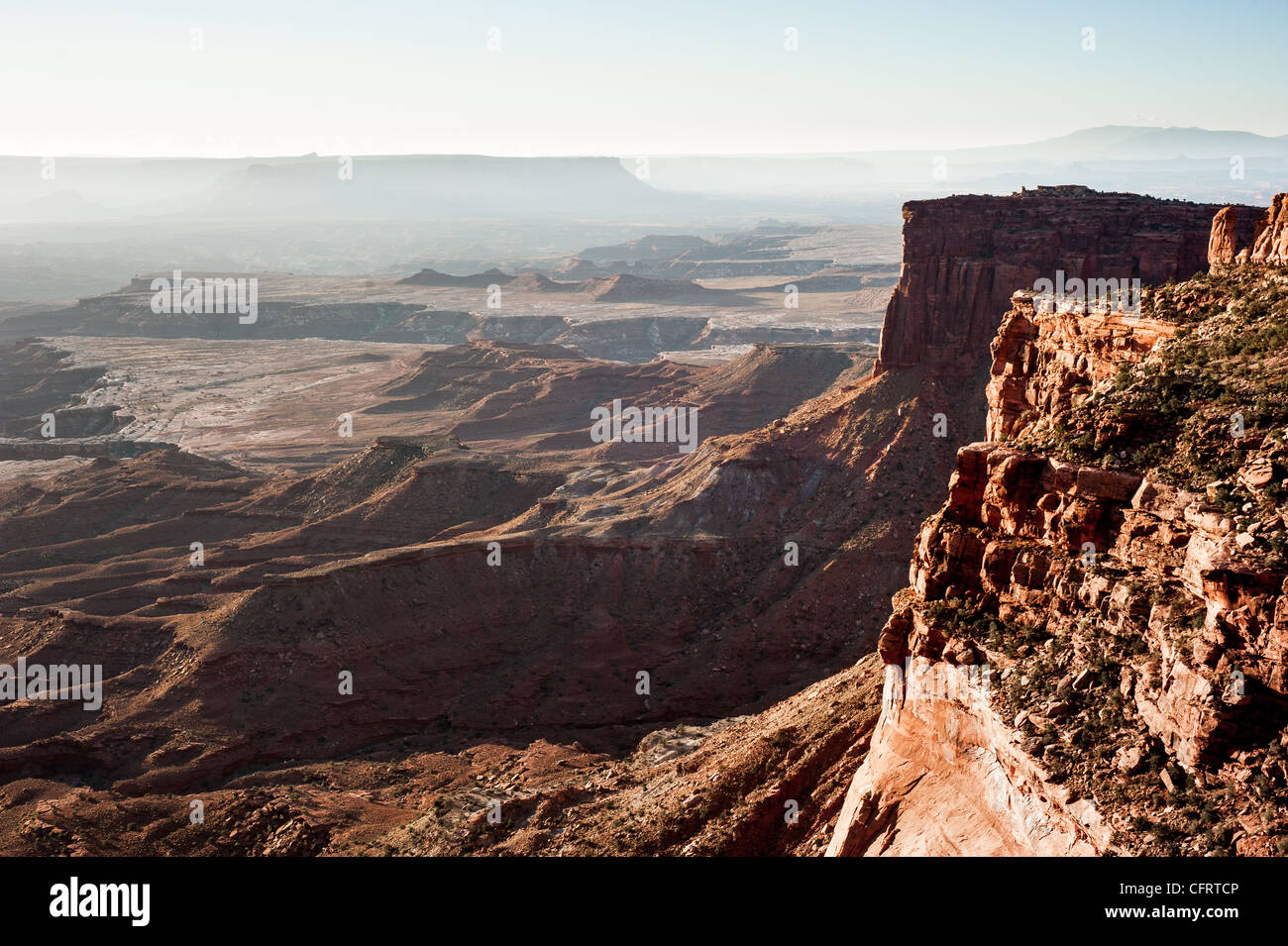 Scenic panorama from island of the sky, canyonlands national park, utah, usa - Stock Image