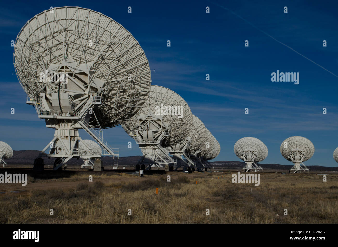 VLA, Very Large Array, New Mexico, National Radio Astronomy observatories - Stock Image