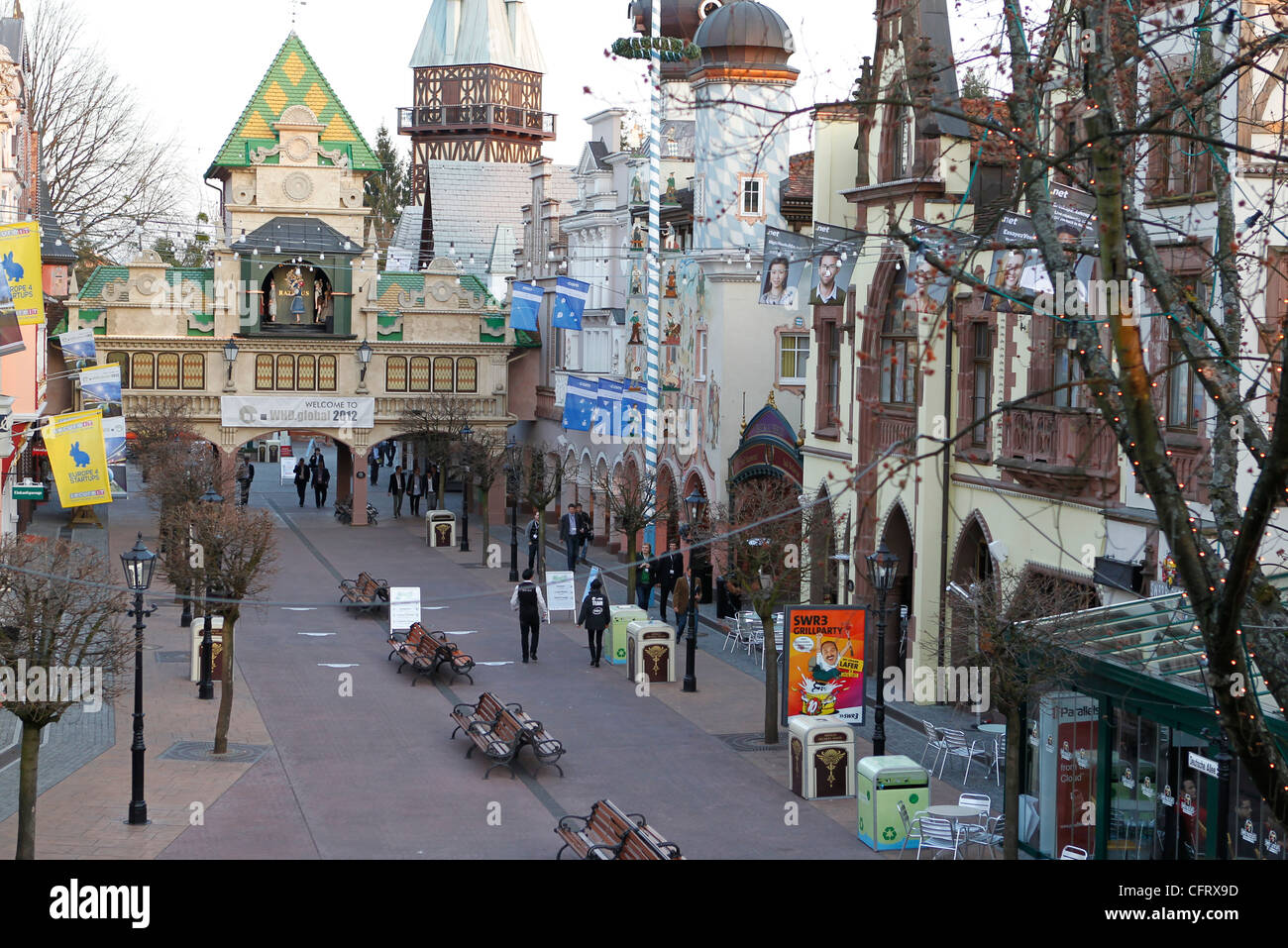 The Europa Park in Rust, Germany one week before the official Opening / The World Hosting Days WHD took place in - Stock Image
