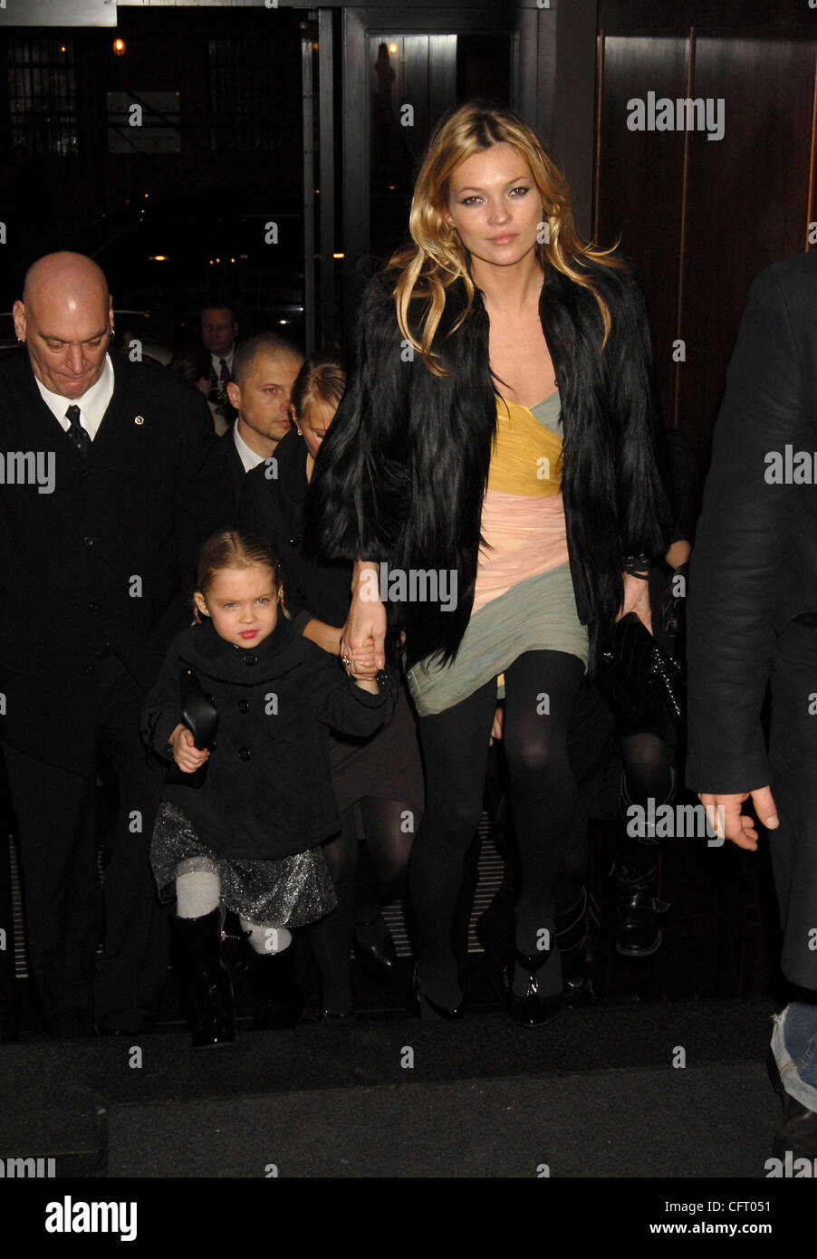 Dec 01, 2006; New York, NY, USA; KATE MOSS with daughter LILA GRACE arrive at a benefit auction of photographic - Stock Image