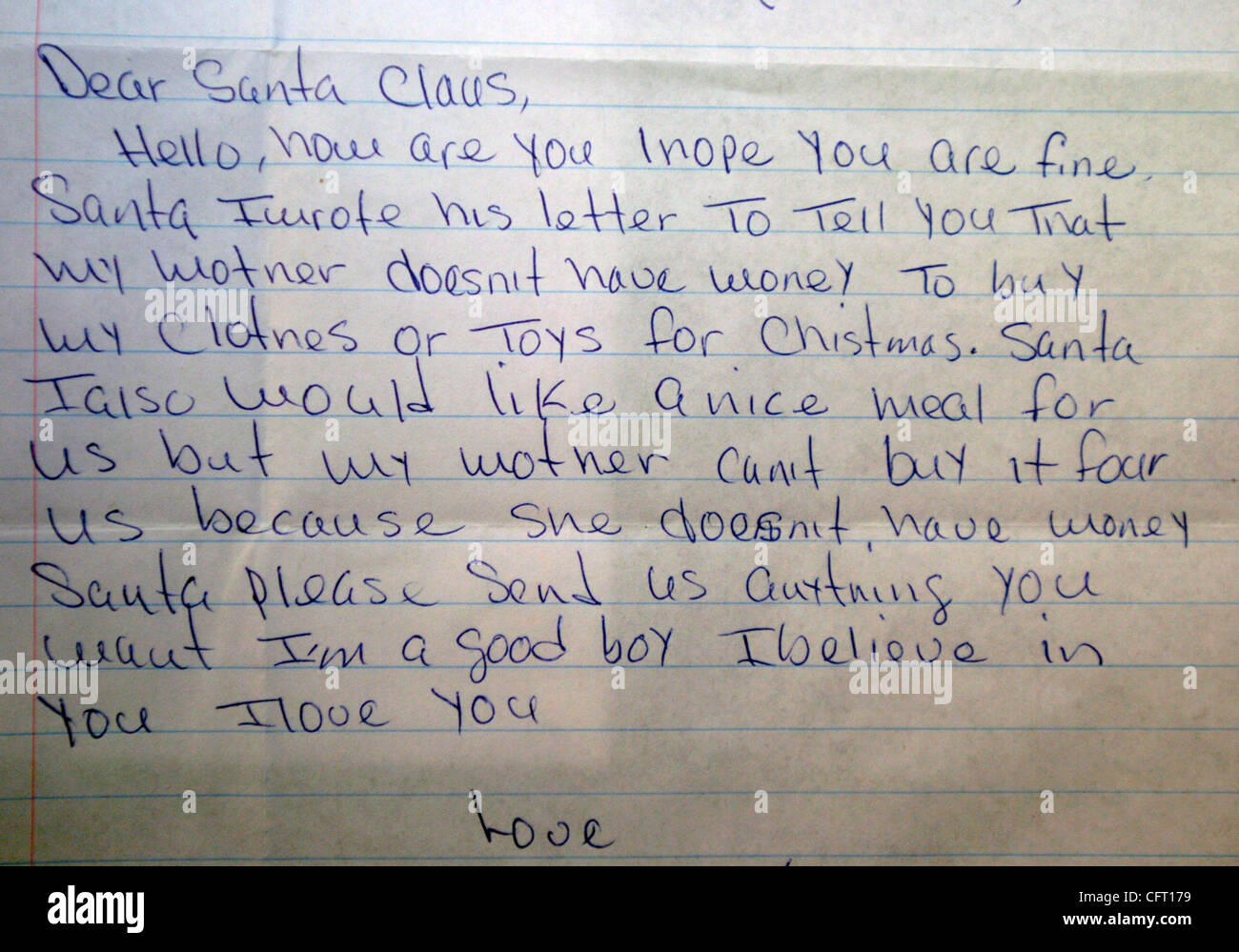 Rafael From The Bronx Letter Written To Santa Claus As The United