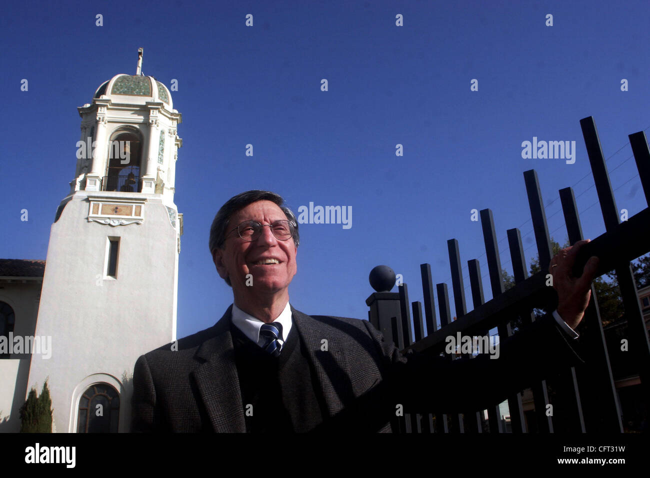 Retiring principal Anthony Aiello at St. Joseph's High School in Alameda, Calif. on Wednesday, December 6, 2006. - Stock Image