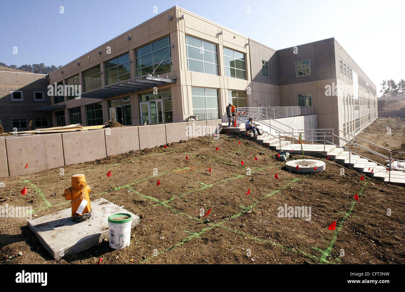 The new juvenile hall on Fairmont Drive is shown on Thursday, Dec. 7, 2006, in San Leandro, Calif. The 300-bed facility - Stock Image