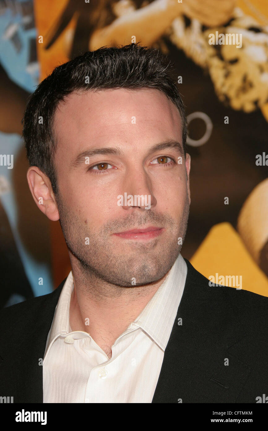 Jan 18, 2007; Hollywood, California, USA;  Actor BEN AFFLECK   at the 'Smokin Aces' World Premeire held - Stock Image