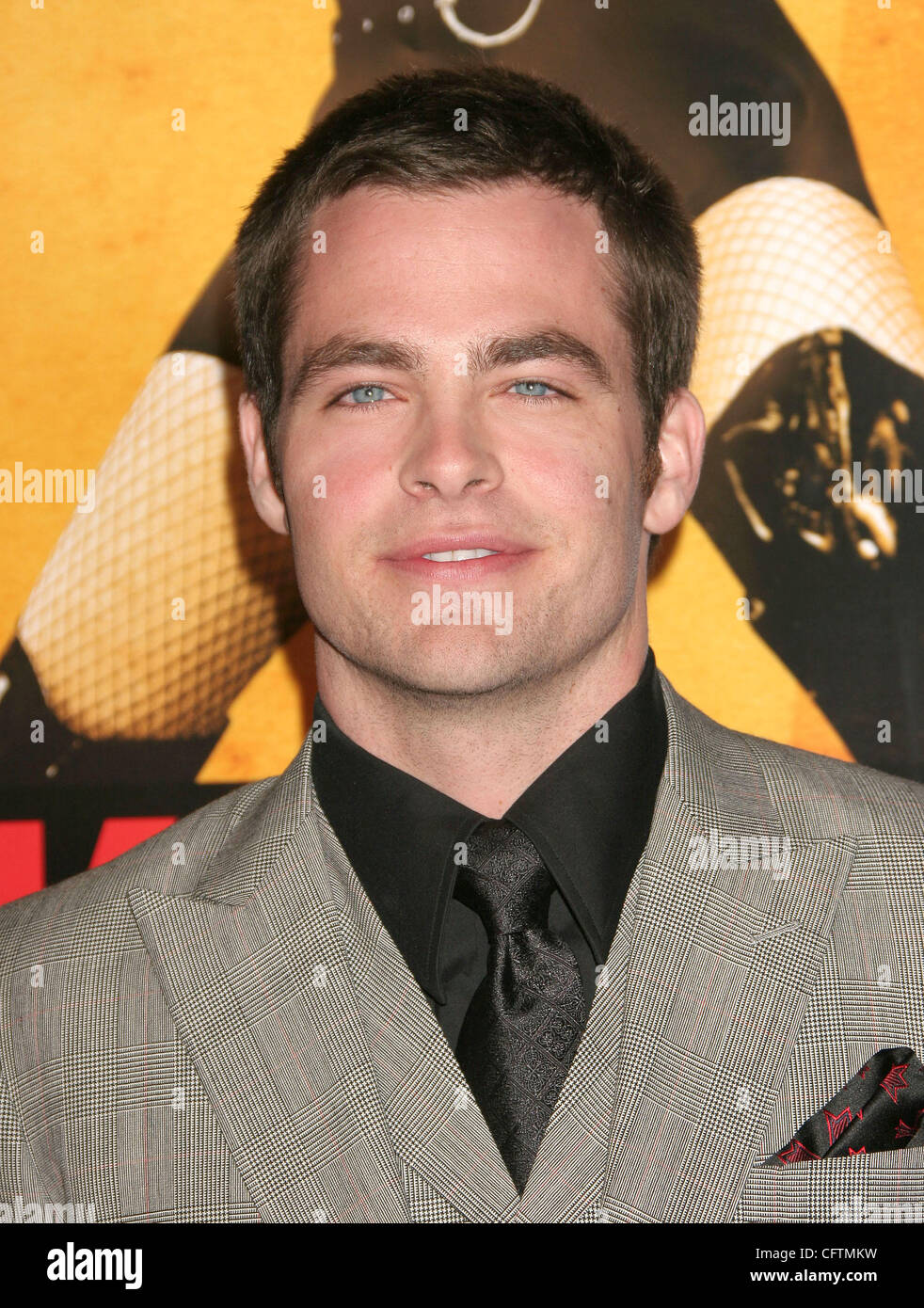 Jan 18, 2007; Hollywood, California, USA;  Actor CHRIS PINE   at the 'Smokin Aces' World Premeire held at - Stock Image