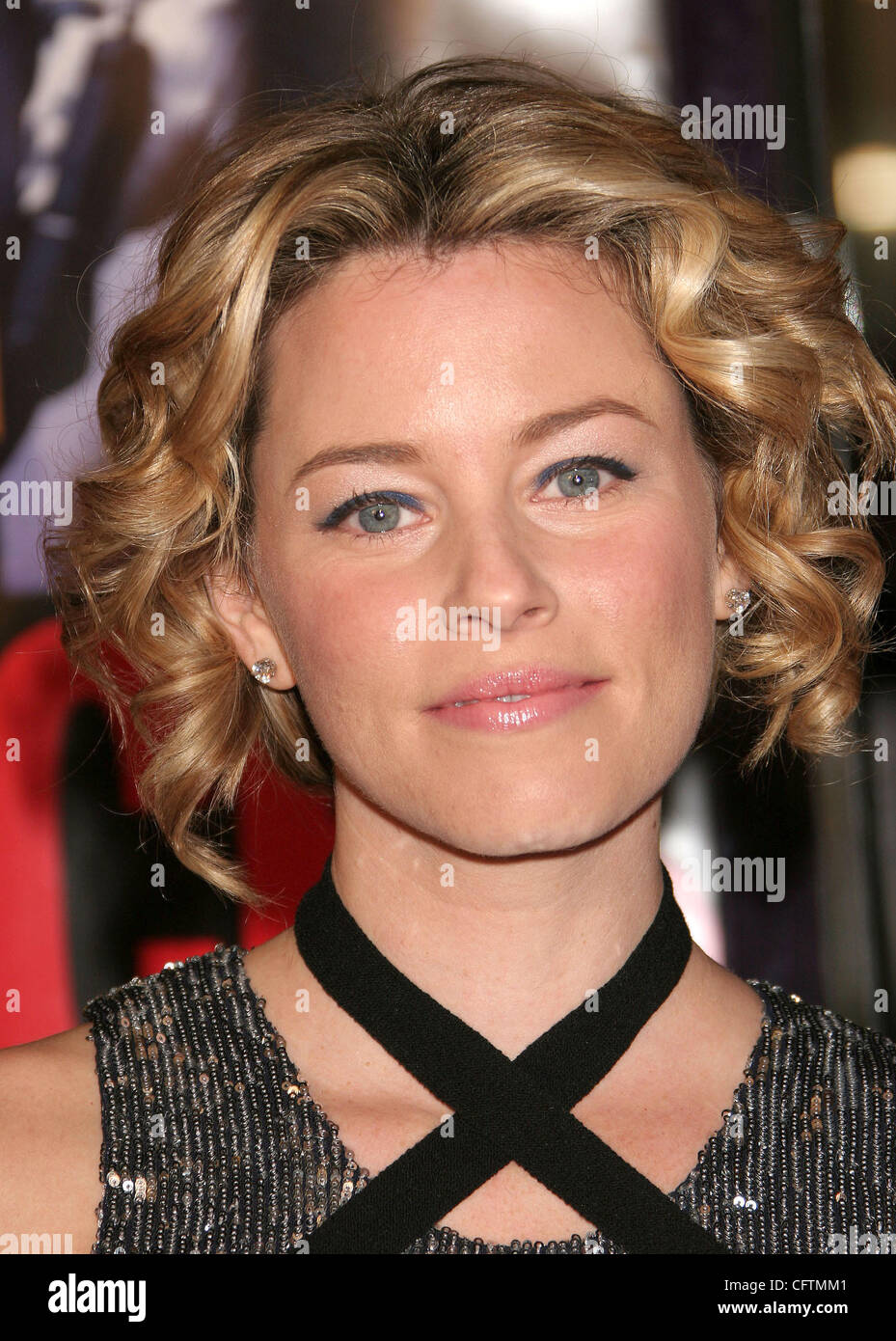 Jan 18, 2007; Hollywood, California, USA;  Actress ELIZABETH BANKS   at the 'Smokin Aces' World Premeire - Stock Image