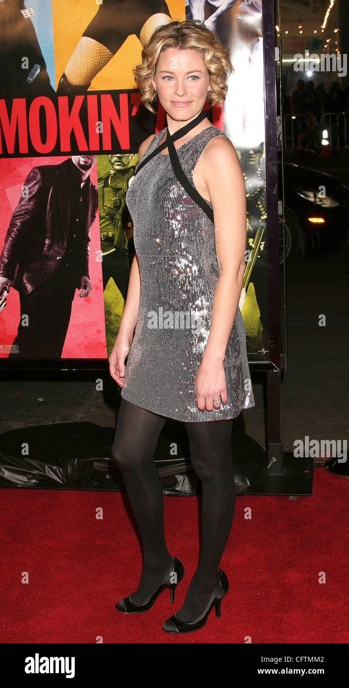 Jan 18, 2007; Hollywood, California, USA;  Actress ELIZABETH BANKS   at the 'Smokin Aces' World Premeire - Stock Image
