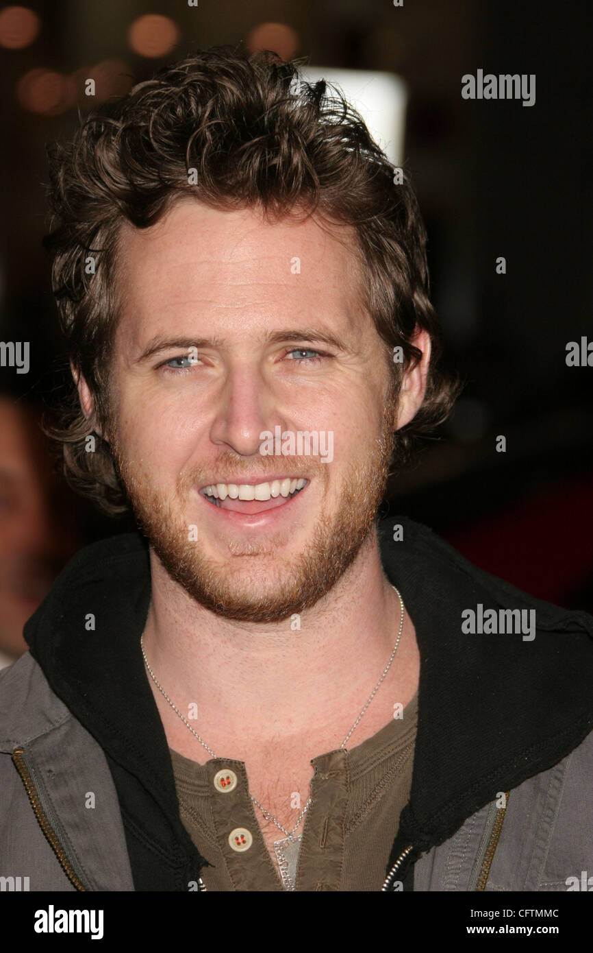 Jan 18, 2007; Hollywood, California, USA;  Actor AJ BUCKLEY   at the 'Smokin Aces' World Premeire held at - Stock Image