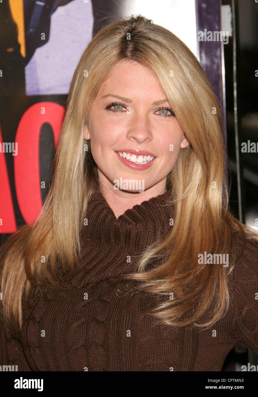 Jan 18, 2007; Hollywood, California, USA;  Actress NICOLE ANDREWS    at the 'Smokin Aces' World Premeire - Stock Image