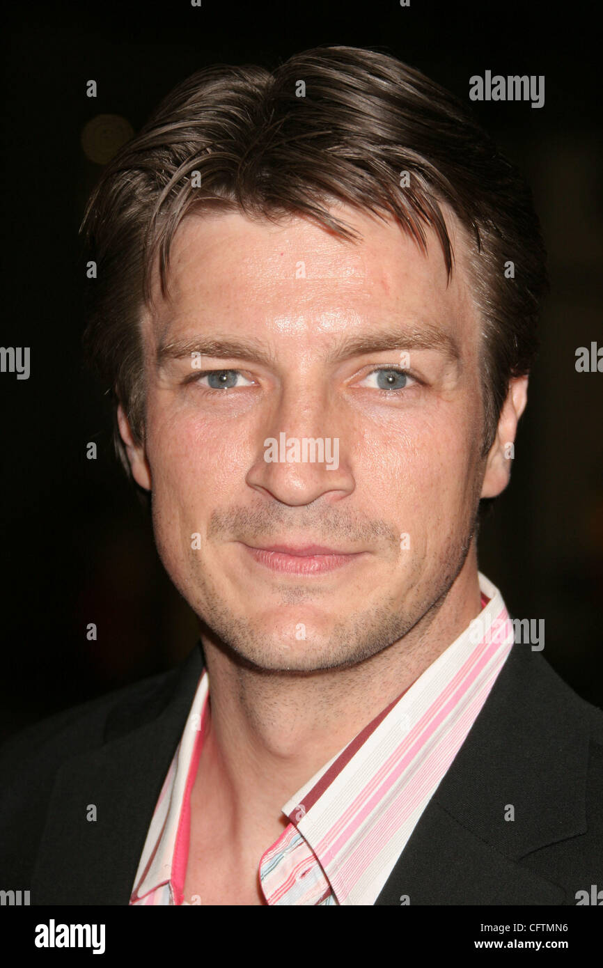 Jan 18, 2007; Hollywood, California, USA;  Actor NATHAN FILLION     at the 'Smokin Aces' World Premeire - Stock Image