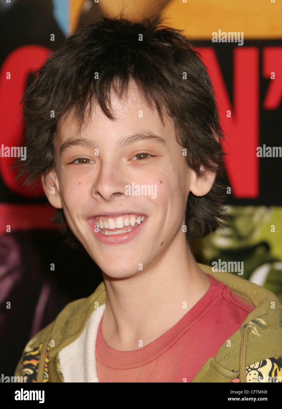 Jan 18, 2007; Hollywood, California, USA;  Actor ZACH CUMER at the 'Smokin Aces' World Premeire held at - Stock Image