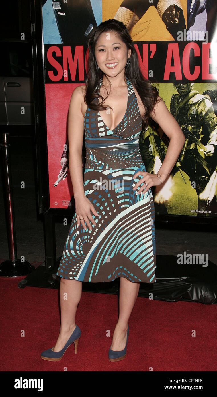 Jan 18, 2007; Hollywood, California, USA;  Actress CATHY SHIM   at the 'Smokin Aces' World Premeire held - Stock Image