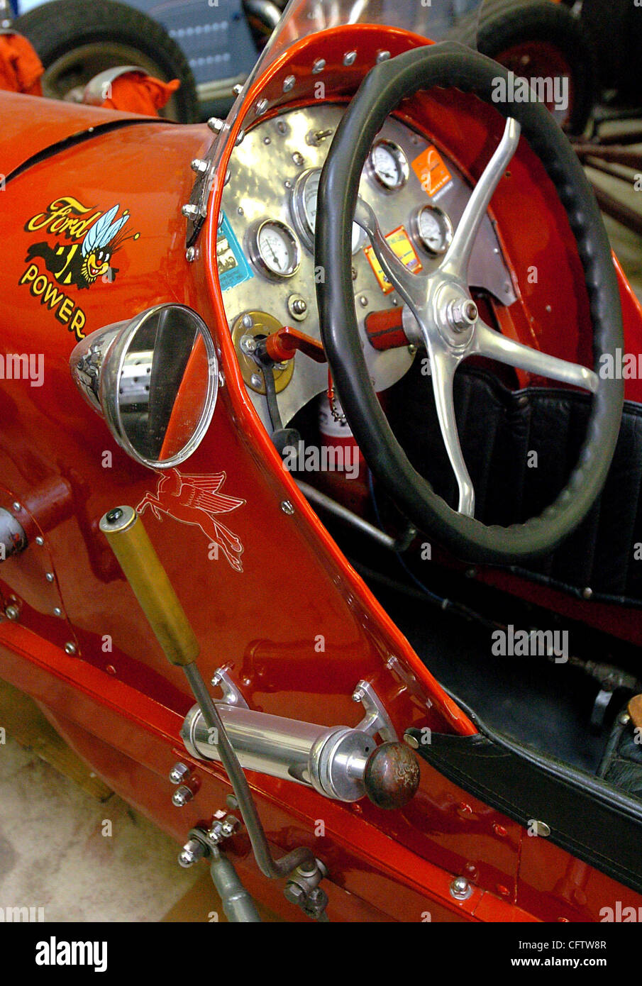 Detail of Ralph Day's 1934 Ford dirt track racer photographed Wednesday, Jan. 24, 2007, in his shop in Concord, - Stock Image
