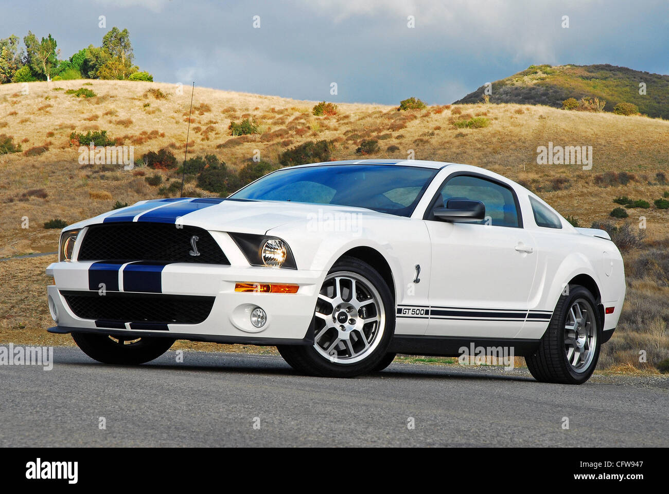 Right side beauty portrait 2007 ford shelby gt500 mustang cobra coupe