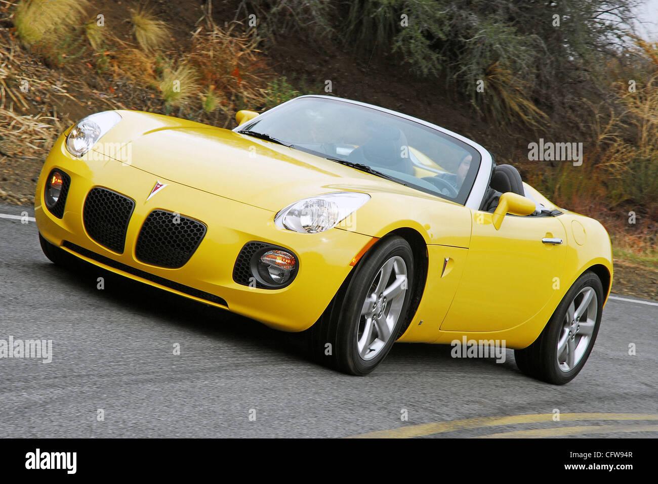 Headon Action 2007 Pontiac Solstice GXP   Stock Image