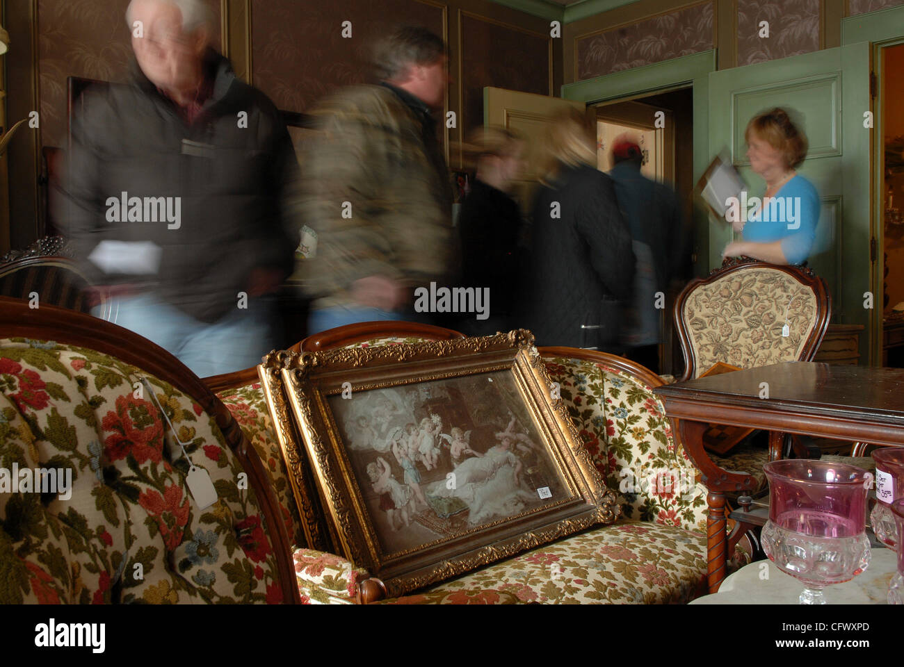 ... auction at the Glueck estate on 24th & Byrant.This was the mother of  all estate sales.In this picture: Room after room was filled with antique  furniture ... - RICHARD SENNOTT¥rsennott@startribune.com.Minneapolis, Mn. Friday
