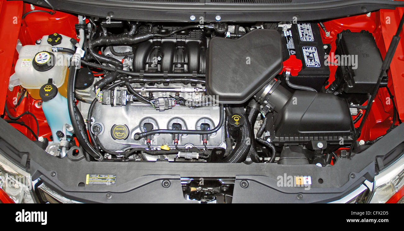 V6 Engine 2007 Ford Edge Sel Awd Stock Photo  44213265