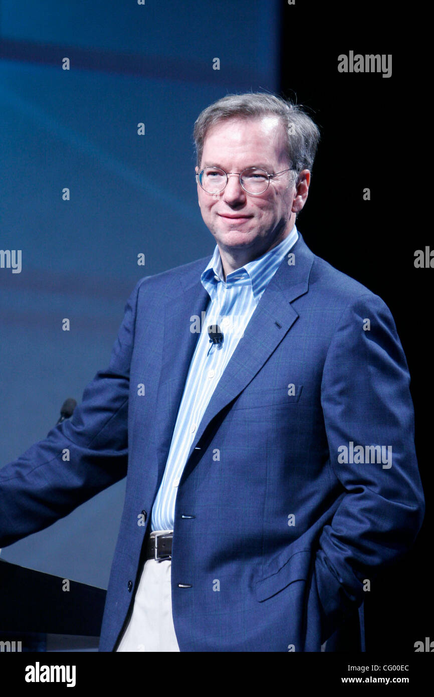 Dr. Eric Schmidt CEO of Google speaking at the beginning of Google's annual  National Sales