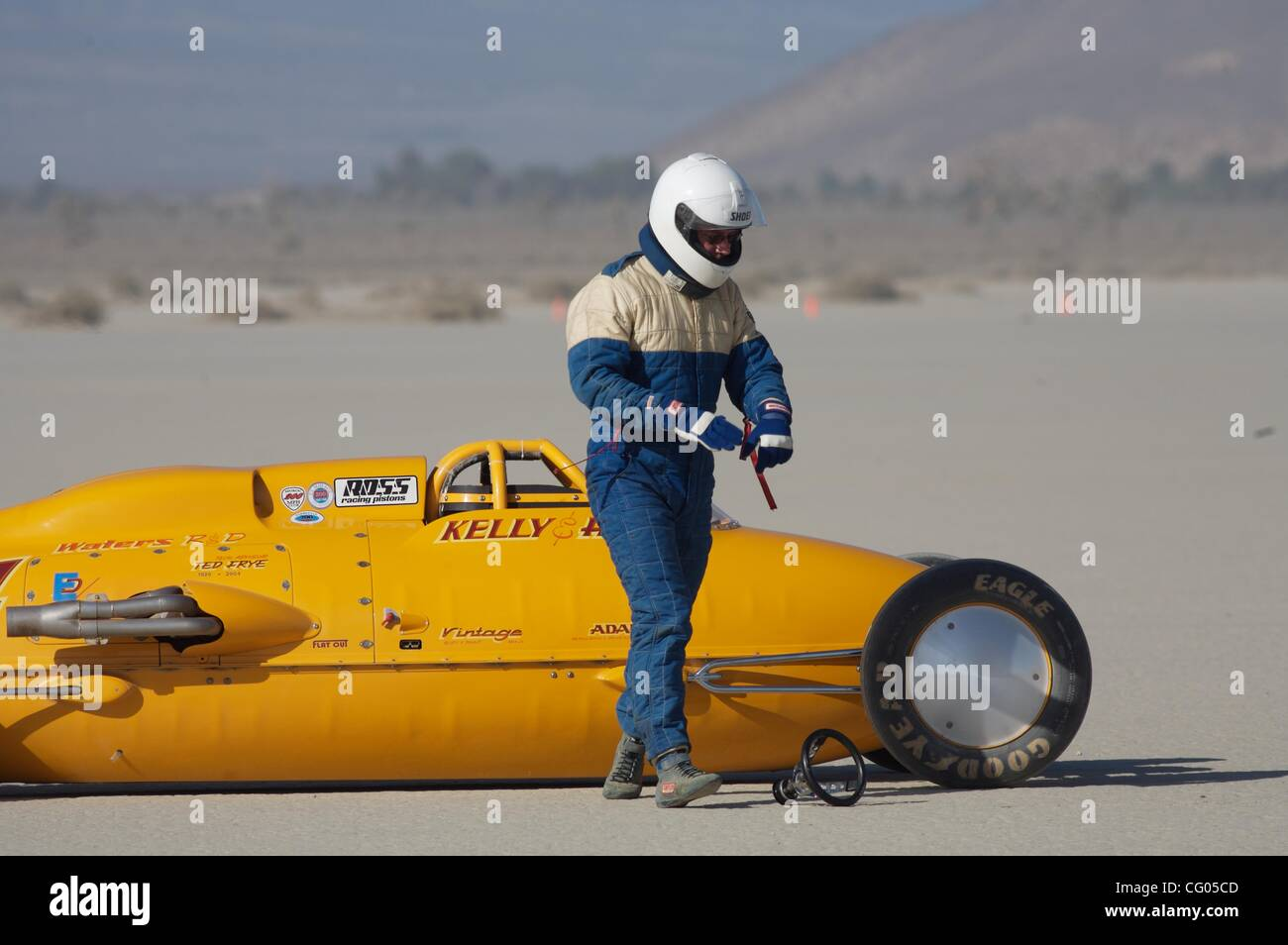 Jun 11, 2007 - El Mirage, California, United States - El Mirage dry lake bed has been home to Land Speed Racing Stock Photo