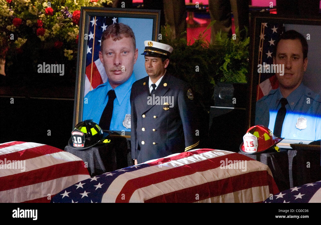 NORTH CHARLESTON, SC   JUNE 22: The Memorial Service For Nine Charleston  Firefighters At The North Charleston Coliseum In North Charleston, South  Carolina ...