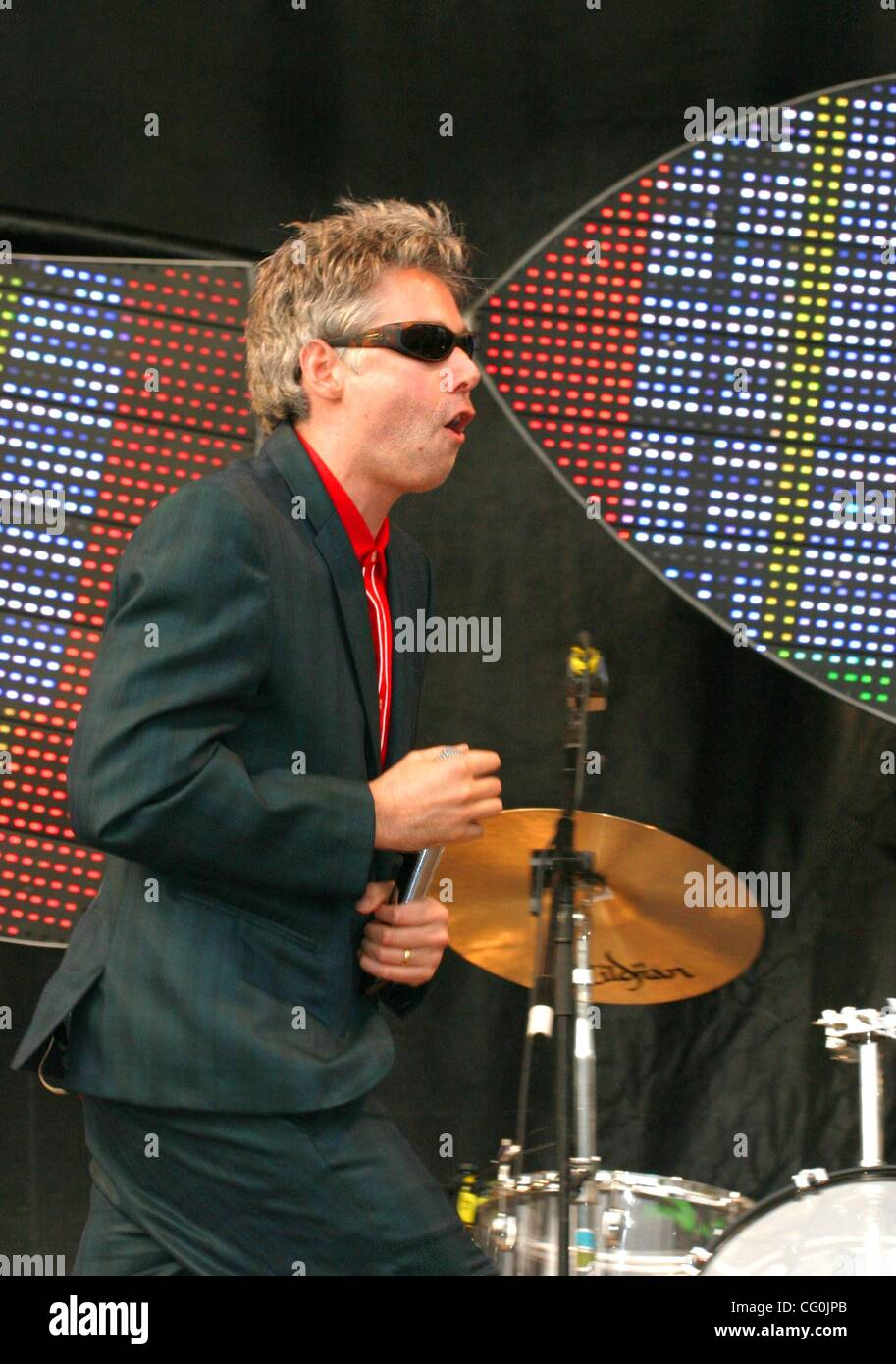 Jul 04, 2007 - Stockholm, SWEDEN - ADAM YAUCH (MCA) as musicians the 'Beastie Boys' perform live in concert at Grona Stock Photo