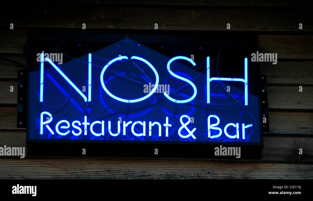 Lake City,Minn., 06/27/2007 - Nosh neon sign.  (Credit Image: © Minneapolis Star Tribune/ZUMA Press) - Stock Image