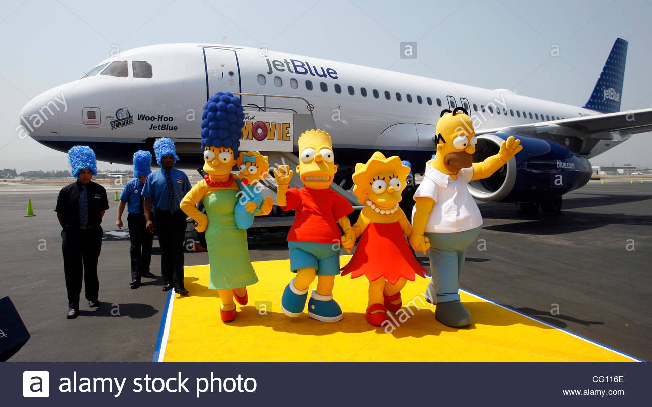 Characters From The Simpsons Movie Marge Maggie Bart Lisa And Stock Photo Alamy