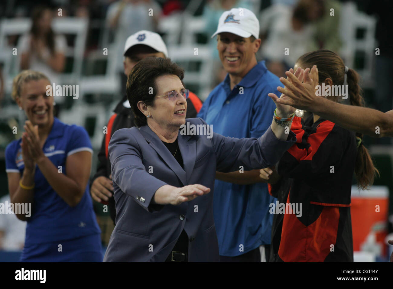 Jul 23, 2007 - Newport Beach, CA, USA - As one of the 20th century's most respected women, BILLIE JEAN KING - Stock Image