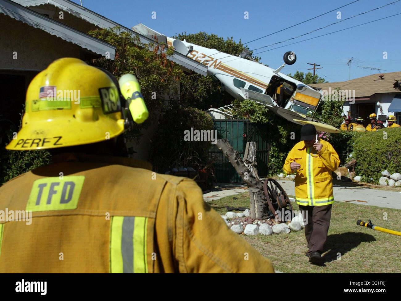 Aug 11, 2007 - Lomita, USA - A small plane crashed into a