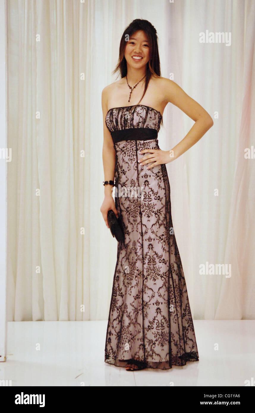 Lily Peng, 17, of Davis models a \