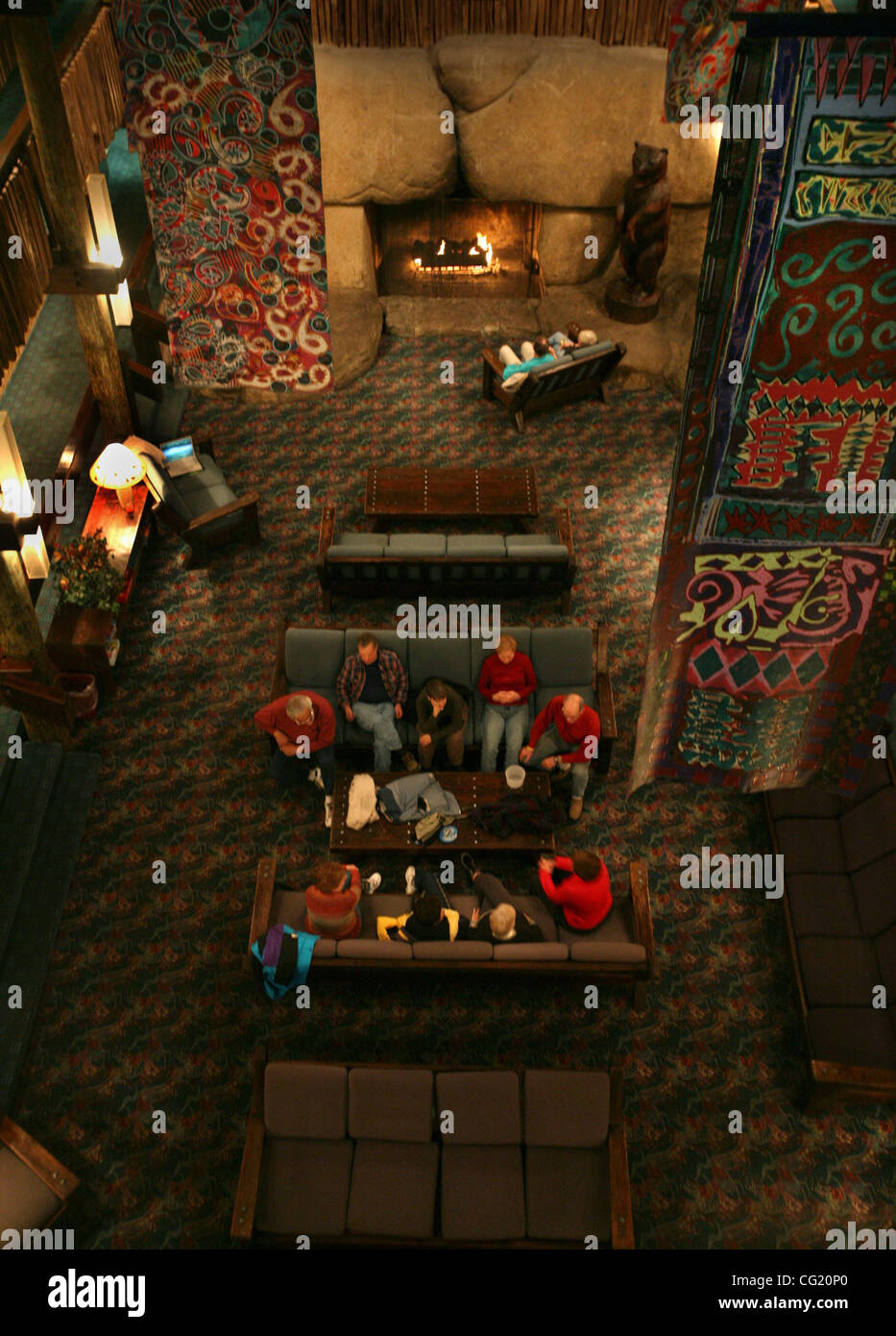Bear Valley Lodge >> A Fire Is Enjoyed By Patrons Inside The Bear Valley Lodge In Bear