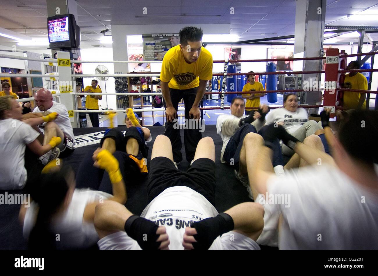 6fadeabf73 JUMP LEDE: Prime Time Boxing coach Fernando Santos leads a boxing camp  Monday, March