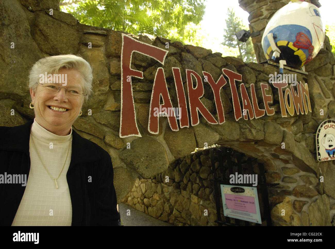 Nancy Marshall,  committee member and volunteer for the Sacramento Area Emergency Housing Center Fairytale Town - Stock Image