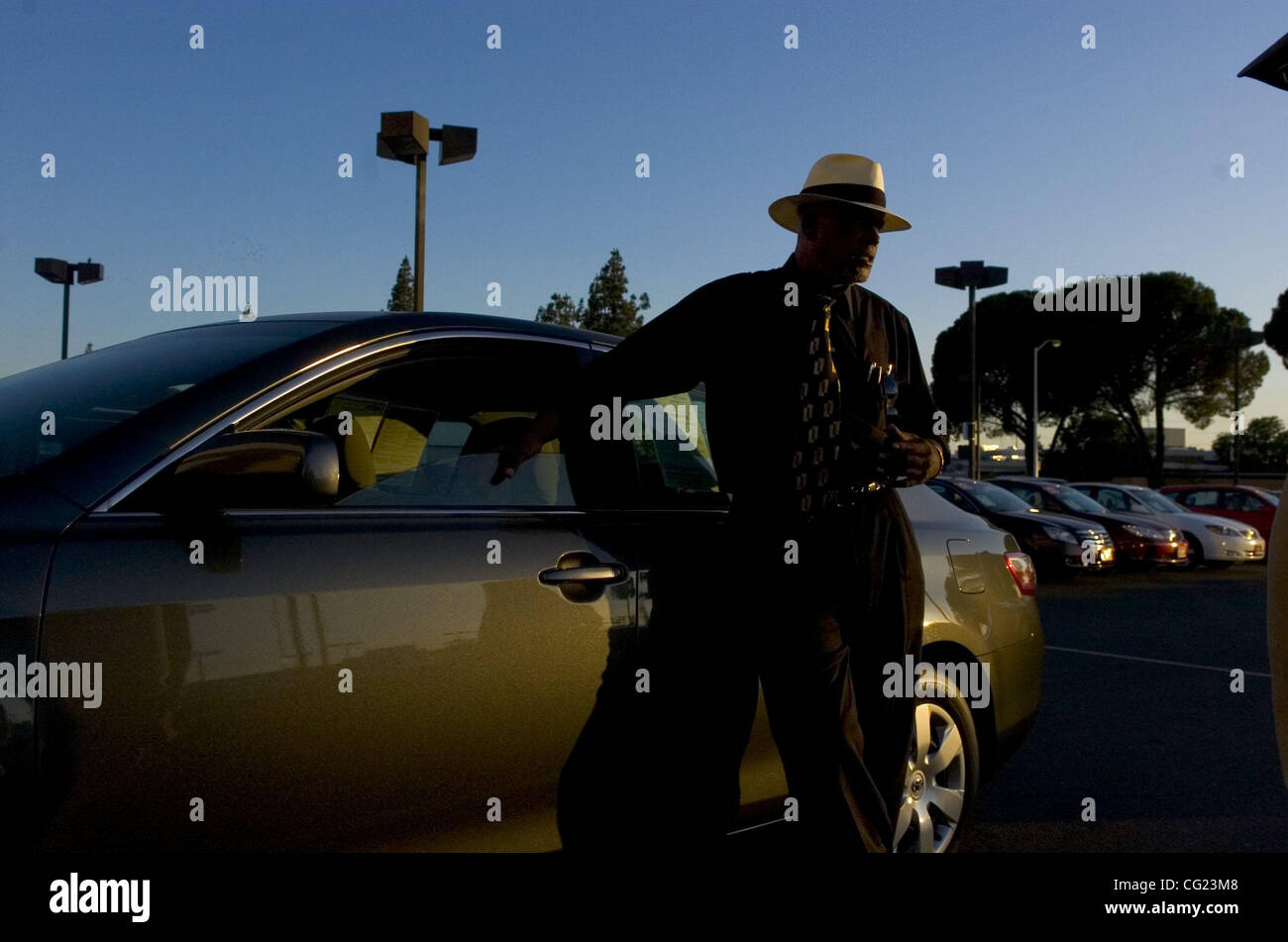 FLORIN ROAD -- Dwight Brooks (cq) a car salesman at the Elk Grove Toyota Certified on Florin Road in Sacramento. - Stock Image