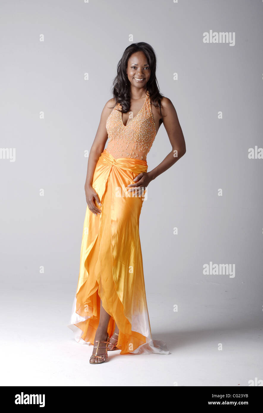 Tracie Stafford (cq), Mrs. California, models four different evening ...