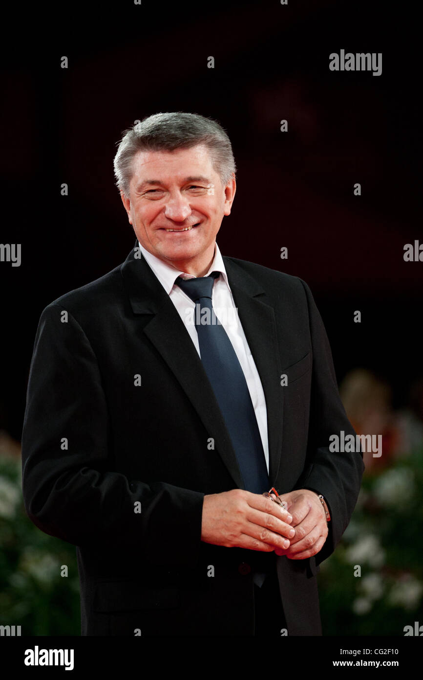 Sept. 8, 2011 - Venice, Italy - director Aleksandr Sokurov on the red carpet before premiere of the movie 'Faust' Stock Photo